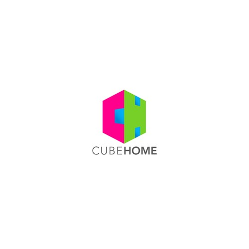 logo for cubic homes concept