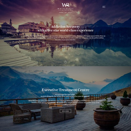 White River Manor Wordpress Design