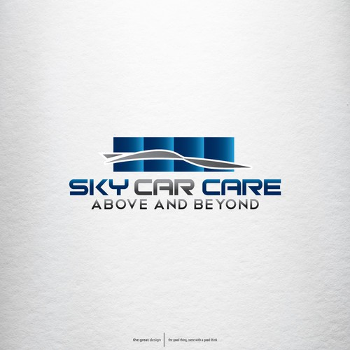 Logo concept for Sky's The Limit Car Care