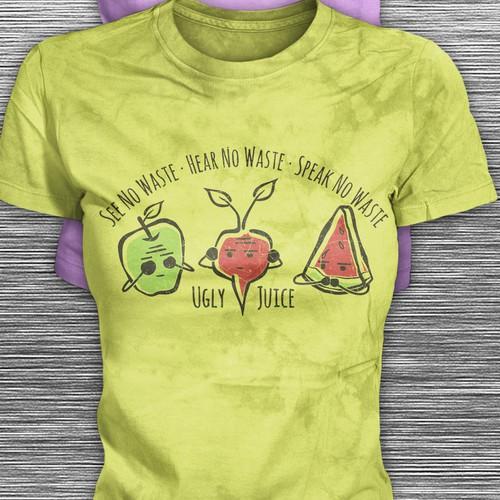 Finalist t-shirt Design Concept for a Juice Company