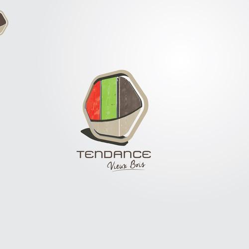 Logo pour tendance vieux bois
