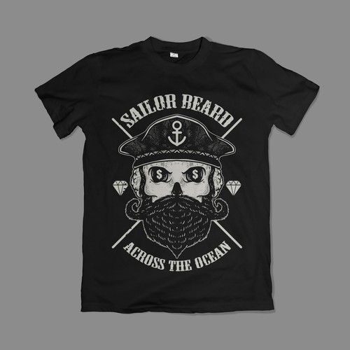 Sailor Beard t-shirt design