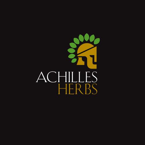 achilles herbs logo concept