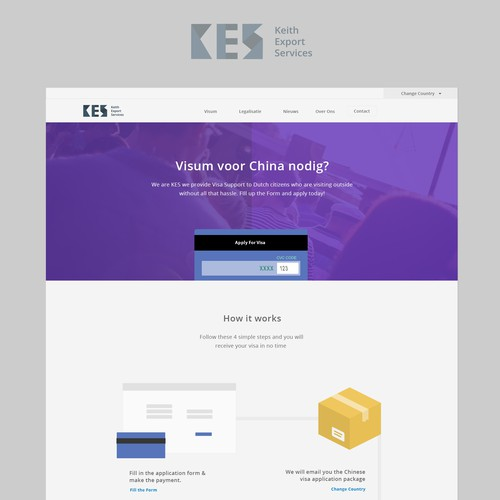 Website Template for a Visa Support service