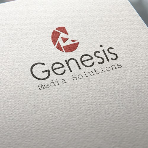 Clean simple logo for Media company