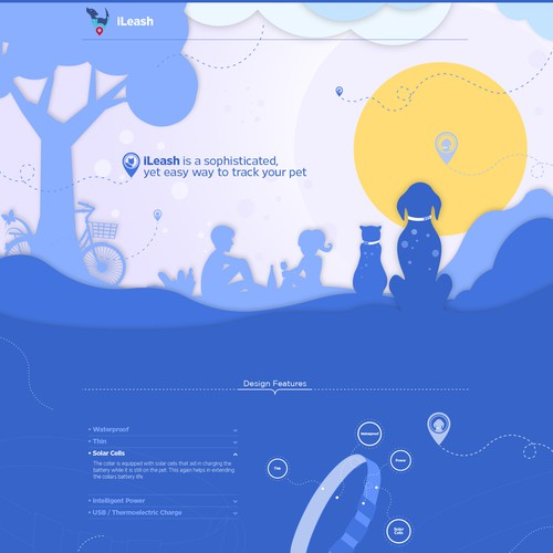 iLeash Pet Tracker Landing Page