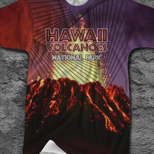 Hawaii Volcanoes National Park T-shirt Design