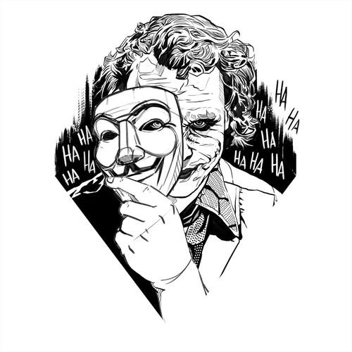 Joker Anonymous Tattoo