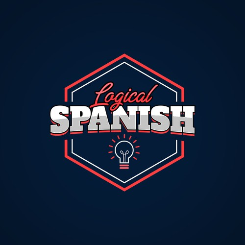 Logo concept for online spanish language course