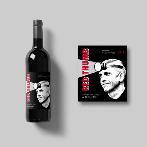 Red Thumb wine label