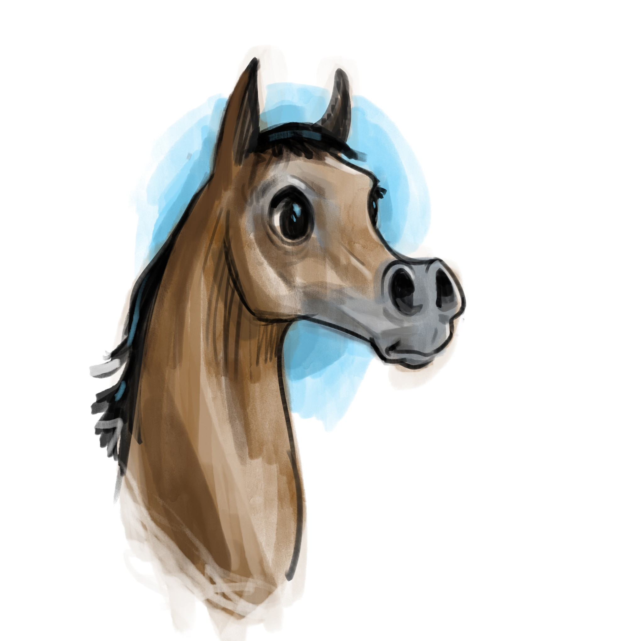Horse character for book illustration - option for 40 more illustrations