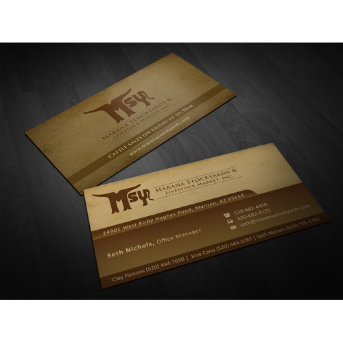 Marana Stockyards Business Cards