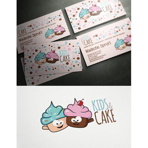 Kids & Cake heeft een nieuw logo and business card nodig
