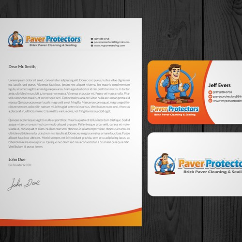 Business Card & Letterhead for Paver Protectors Inc.
