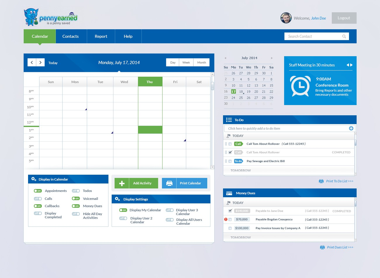 CRM Website Template