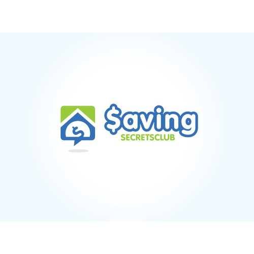 Web 2.0 Style Logo For A Money Saving Website