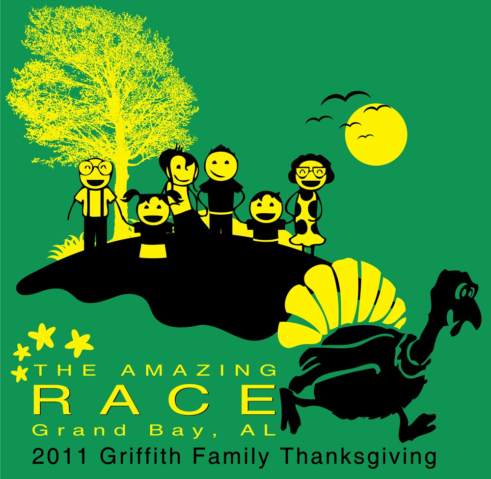 AMAZING RACE !!!!!  T-shirt design wanted for family holiday.