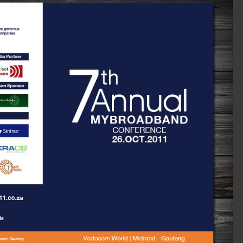 New print or packaging design wanted for MyBroadband Conference 2011