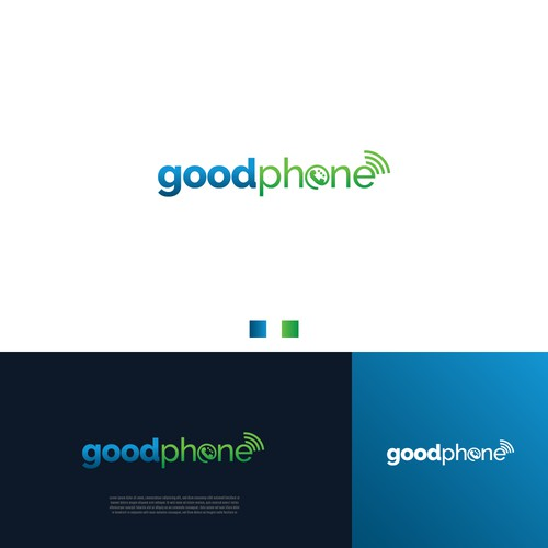 Strong and Modern Logo for GoodPhone