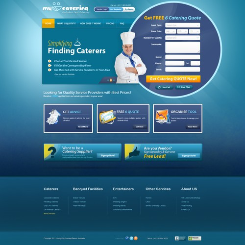 My Caterers NEW website design