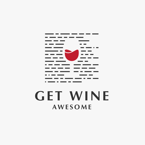 Create the logo for Get Wine Awesome, a company that will be the way people get wine smart.