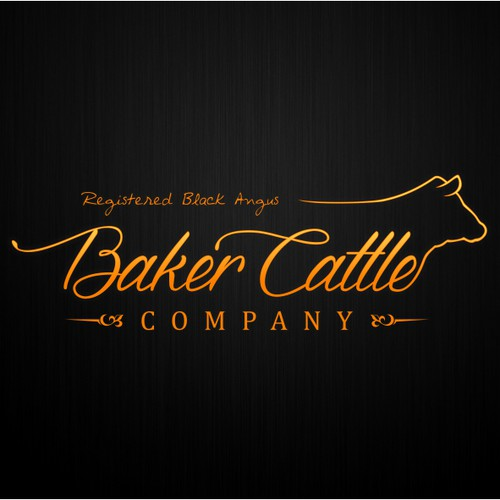Create a new business logo for Baker Cattle Company