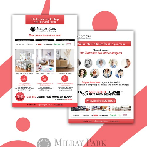Flyer design for Milray Park