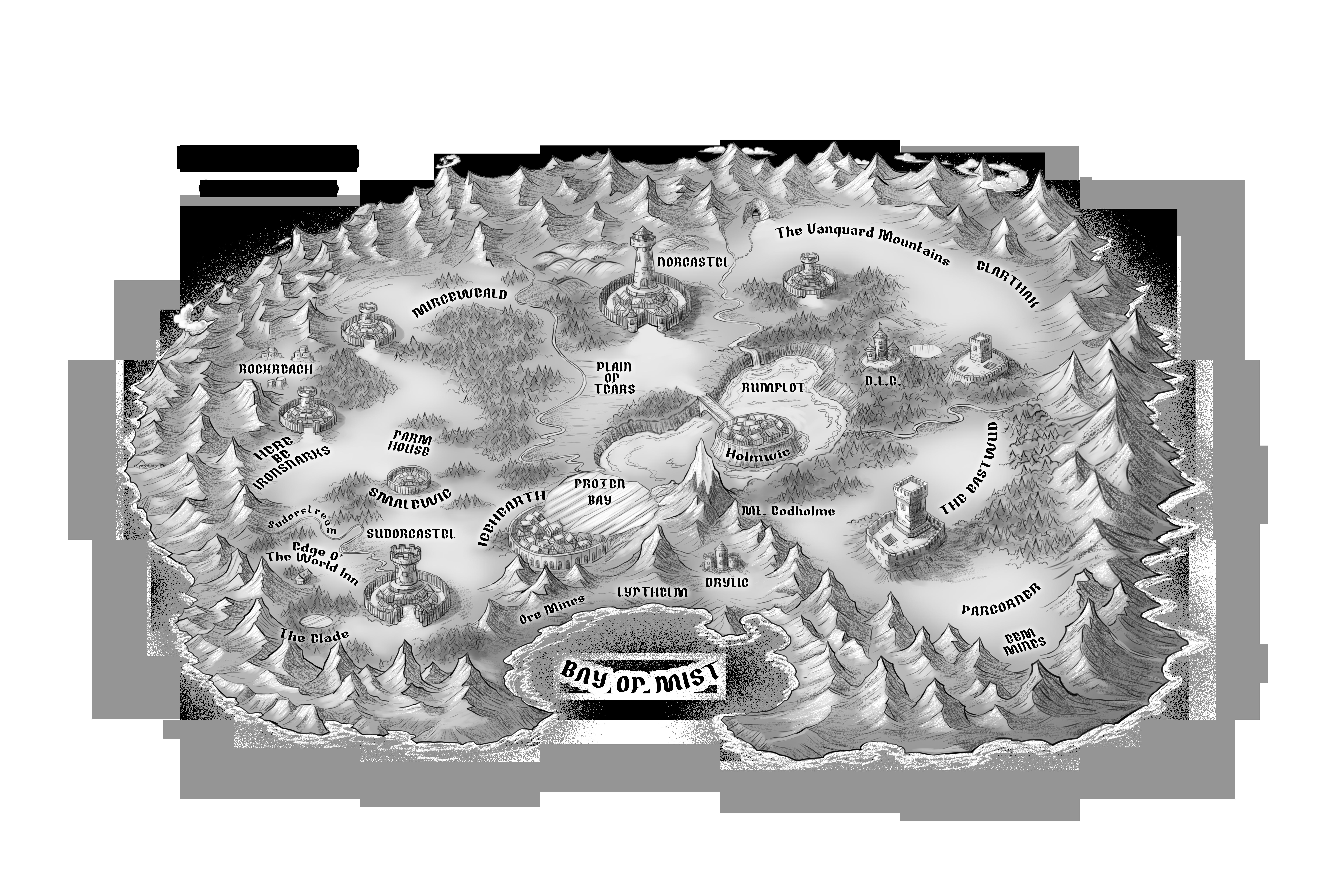 Map for a fantasy novel