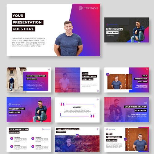 Need a clean, modern Presentation Slide Deck with bold colors....