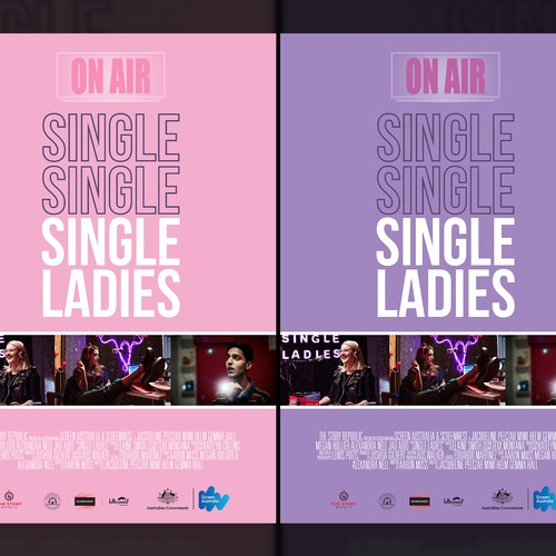 Single Ladies Poster Design