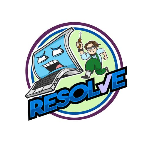 Logo for pc repair service.