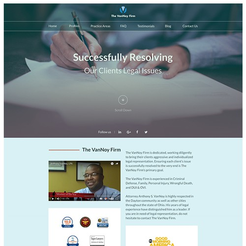 VanNoy - Redesign Home Page