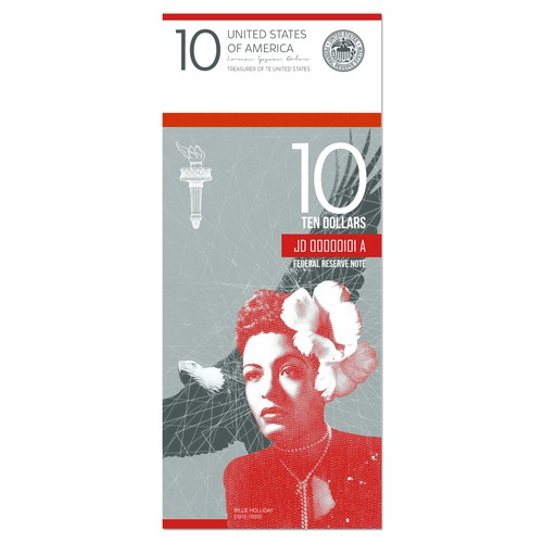 Design the new $10 bill featuring a woman