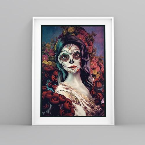 """Entry for """"Dia de Los Muertos"""" Art."""