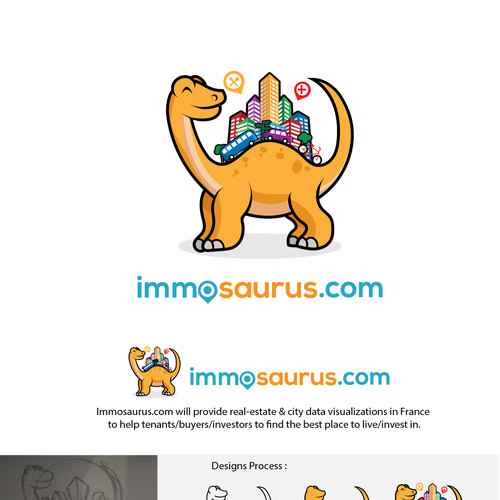 Character Design for Immosaurus.com
