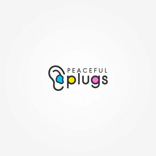a clean and simple logo for custom earplugs company, Peaceful Earplugs