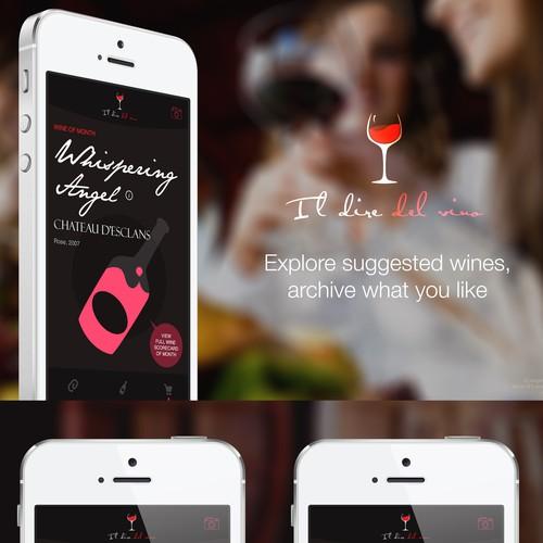 Creare il design per l'app mobile de Il Dire del Vino