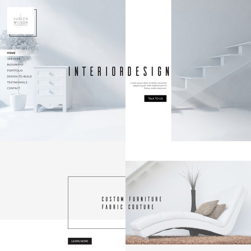 Web page concept for Interior Design Group