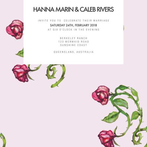 Dreamy Wedding Invitation