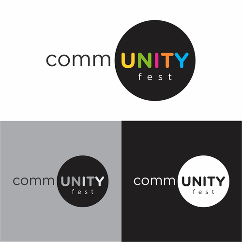 Colorful Logo for a community fest !