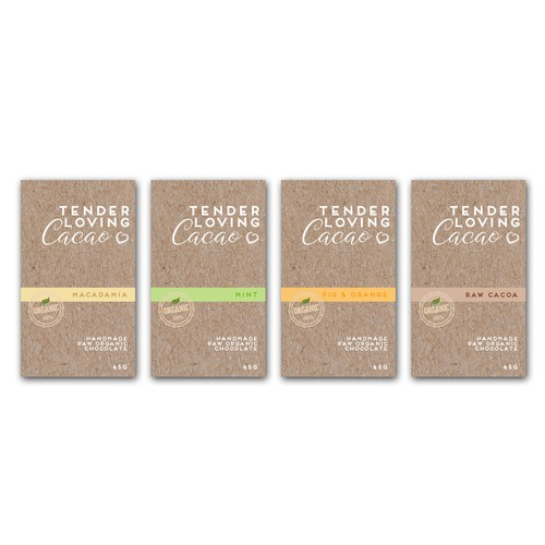 Raw Organic Chocolate Packaging