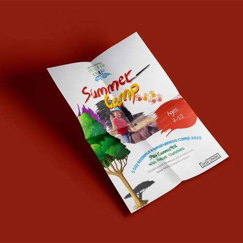 Create a flyer for sensational summer camp for kids
