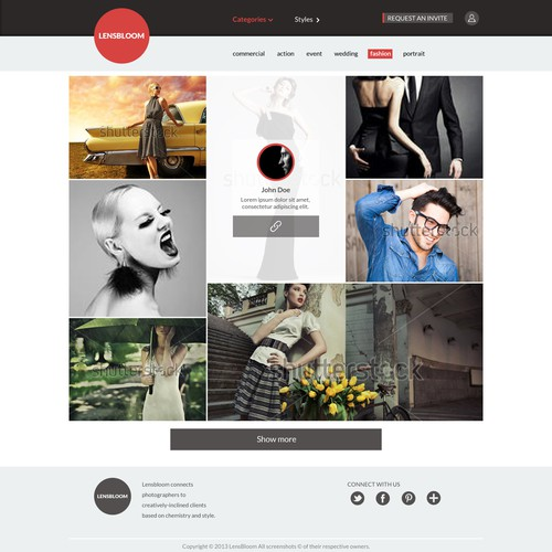 New website design wanted for LensBloom