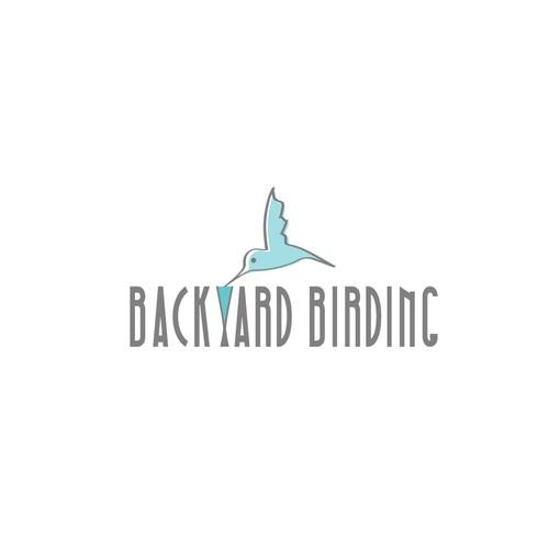 Create a capturing bird feeder illustration for backyard birding, mostly hummingbirds