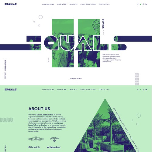 Creative webdesign for events agency