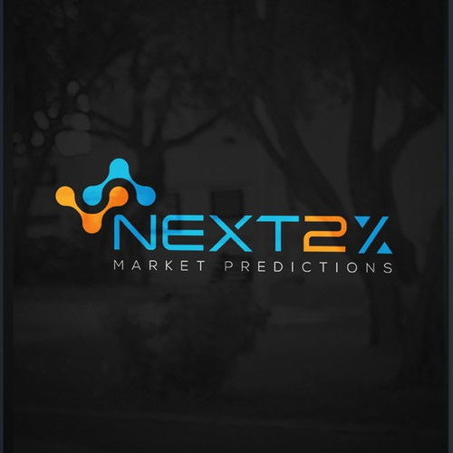 Futuristic Logo for startup using AI to predict financial markets