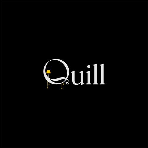 Quill light interior design logo