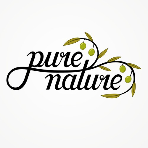 "Logo Design for Olive Oil Brand ""Pure Nature"""
