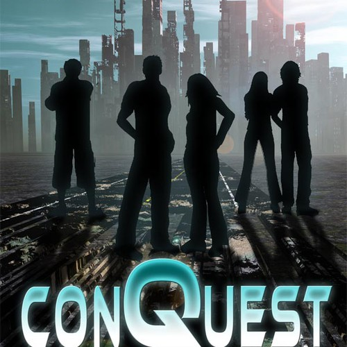 Create a stunning Book cover for ConQuest; A Young Adult Sci-fi book.