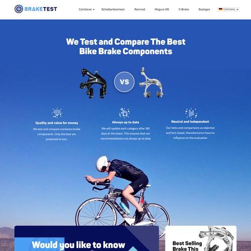 Braketest.io complete Web design
